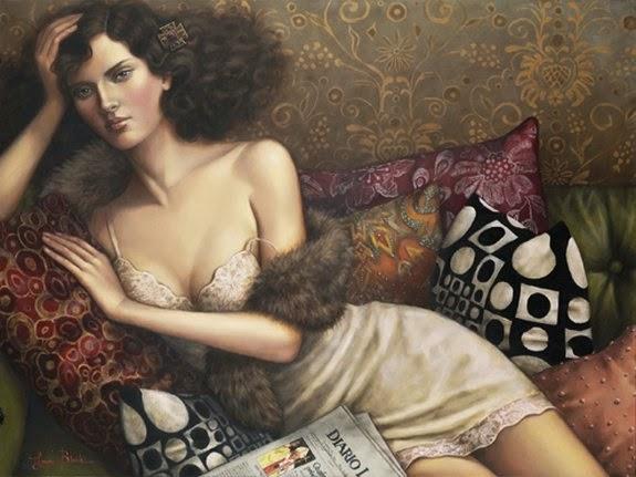 A Outra Mulher - Lauri Blank e suas pinturas cheias de emoções
