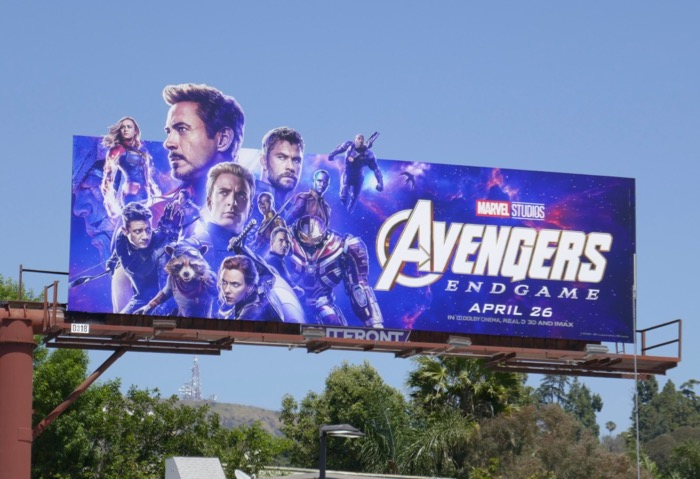 Avengers Endgame extension billboard