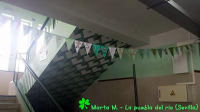 Banderines de San Patricio de la teacher Marta M. del CEIP San Sebastián de la Puebla del Río (Sevilla)
