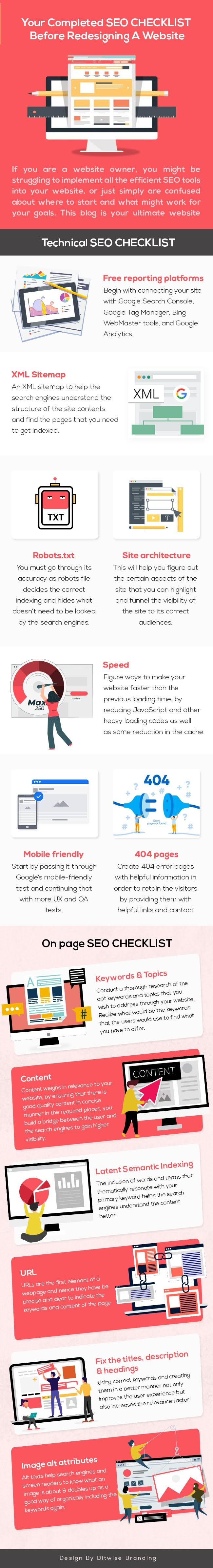 Technical SEO Checklist Before Redesigning a Website #infographic