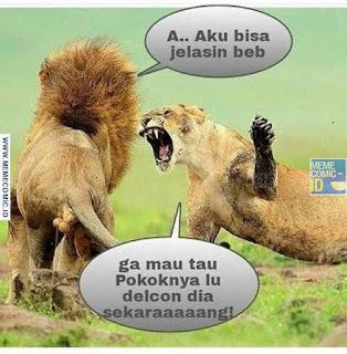 Meme Comic Indonesia terbaru Lucu singa