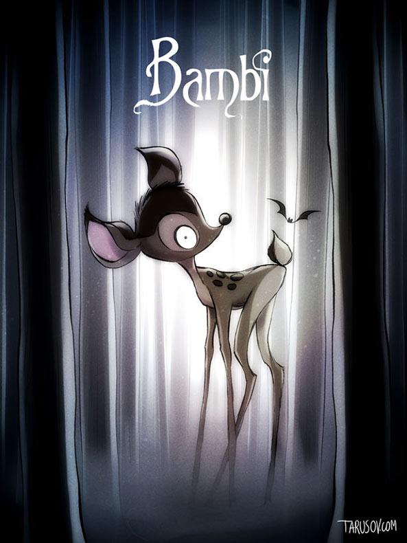 Las peliculas de Disney® en los ojos del cineasta Tim Burton