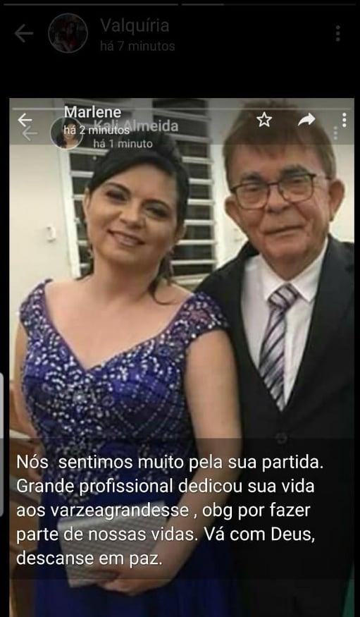 """Várzea Grande- Ex-vice-prefeita e vereadora Eurídice Galvão estende homenagem a Dr Almeida: """"Difícil acreditar""""."""