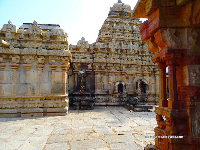 Bhoga Nandeeshwara Temple - Southe Side View, Chikkaballapur, Bangalore