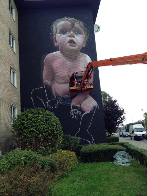 Street Art Mural By Telmo Miel For The Day One Festival In Antwerp, Belgium 3