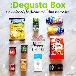 Degusta Box Mars thème anniversaire Bejiines