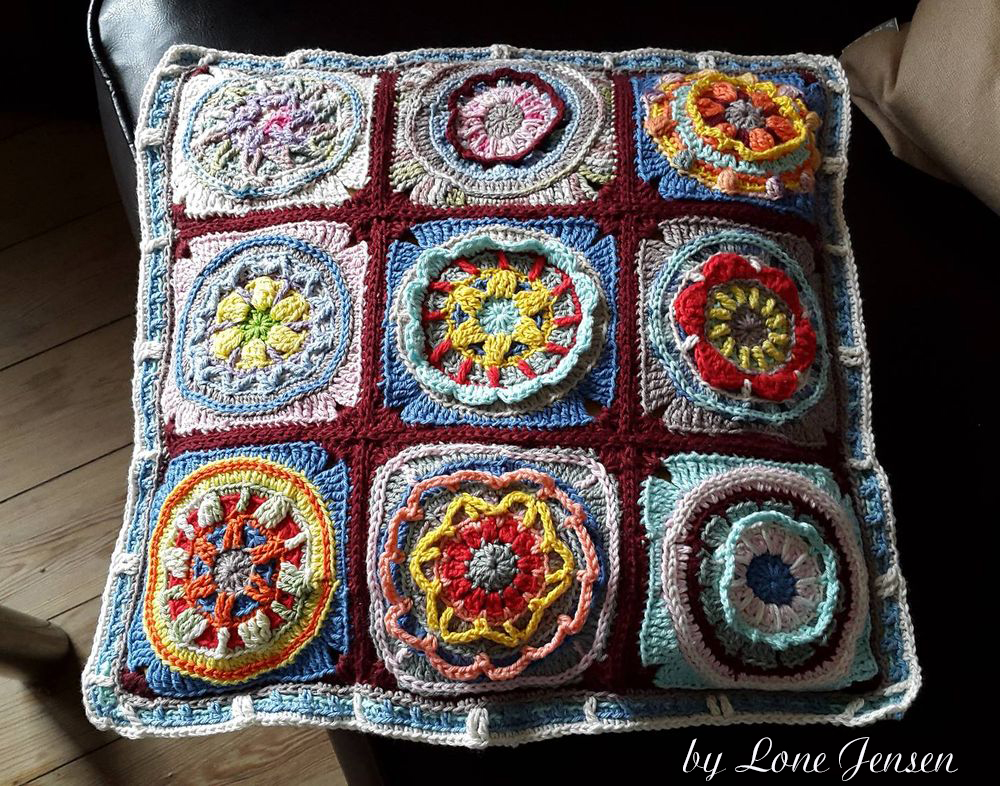 Circles of the Sun pillow by Lone Jensen