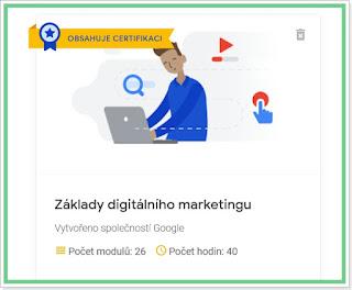 Kurz Základy digitálního marketingu