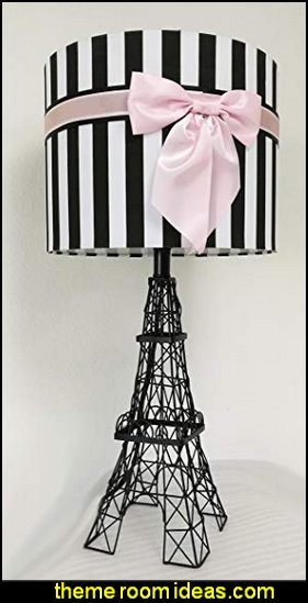 Eiffel Tower Table Lamp with Bowknot Shade  pink  paris bedroom - Paris themed bedroom ideas - Paris style decorating ideas - Paris themed bedding - Paris style Pink Poodles bedroom decorating -  French theme Paris apartment furniture - Paris bedroom decor - decor Paris style French Poodles - room decor french poodle - Paris Postcard bedding - Paris themed teenage bedroom ideas - Paris eiffel tower decor - decorating ideas for paris themed bedrooms - Paris Inspired Nursery - Paris bedrooms - Poodles in Paris