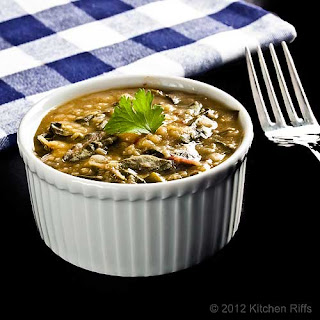 Dal with Swiss Chard