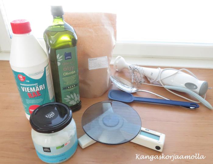 Saippuan valmistus tarvikkeet