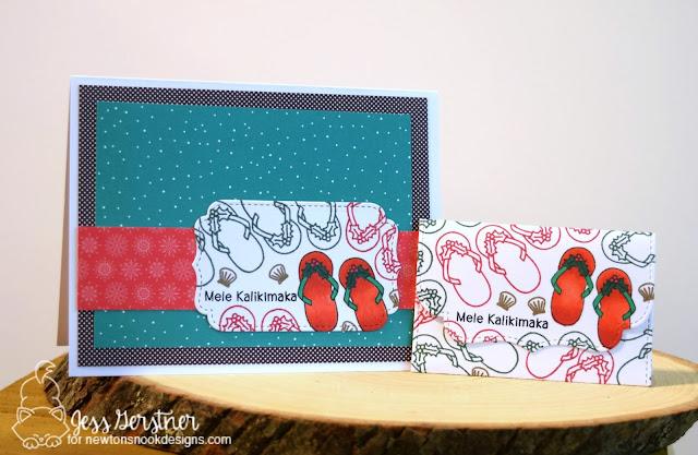 Mele Kalikamaka Card by Jess Gerstner for Newton's Nook Designs