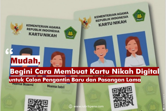 Cara membuat kartu nikah digital secara online