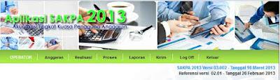 Update SAKPA 2013 Versi 03.002