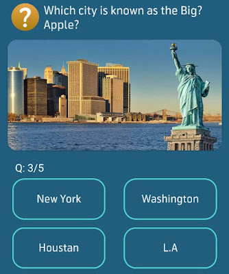 Which city is known as the Big Apple?