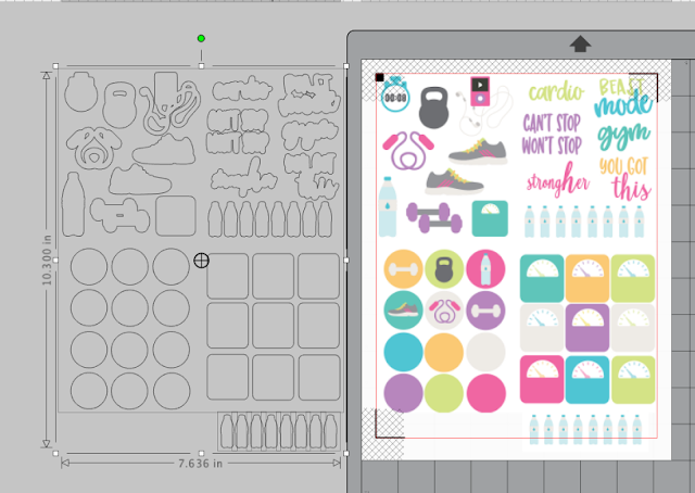 Print and Cut, Planner stickers, silhouette stickers, silhouette cameo stickers, pixscan