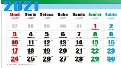 Download Kalender 2021 cdr Tamplate Format File CorelDraw