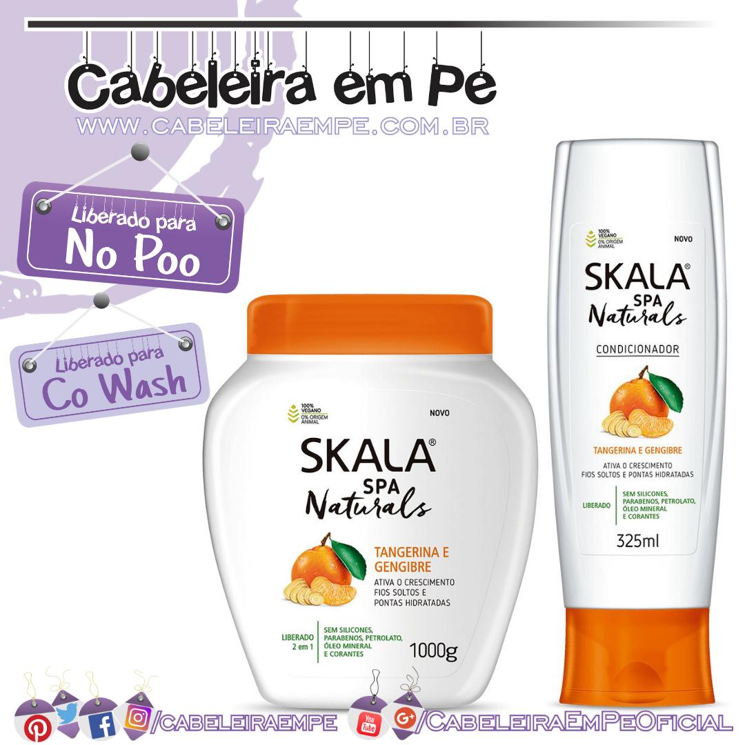 Condicionador e Creme de tratamento Tangerina e Gengibre - Skala Spa Naturals (No Poo e Co Wash)