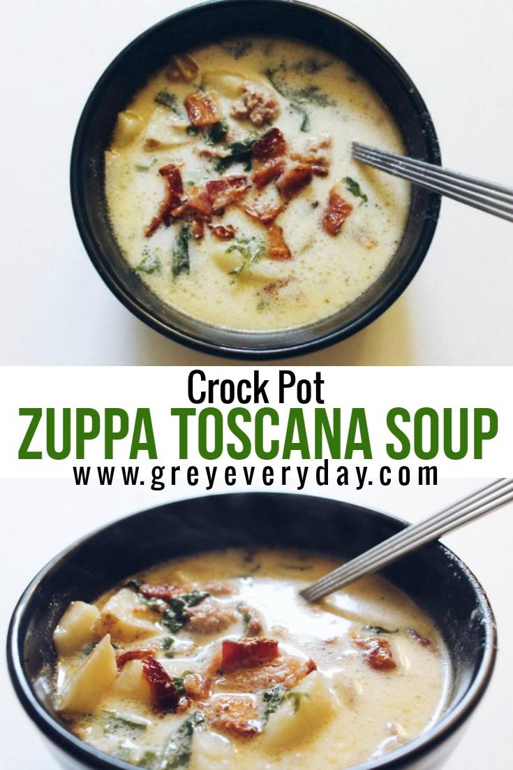 Crock Pot Olive Garden Zuppa Toscana Soup Grey Everyday