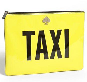 Bolsa da Angélica, Vou de Táxi, da Kate Spade