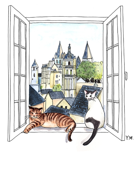 Loches and cats by Yukié Matsushita
