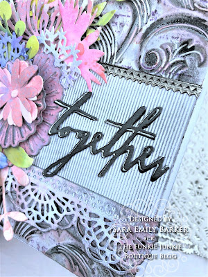 Sara Emily Barker https://sarascloset1.blogspot.com/2019/07/togethera-metallic-wedding-card-for.html Tim HOltz 3D Embossed Wedding Card 5