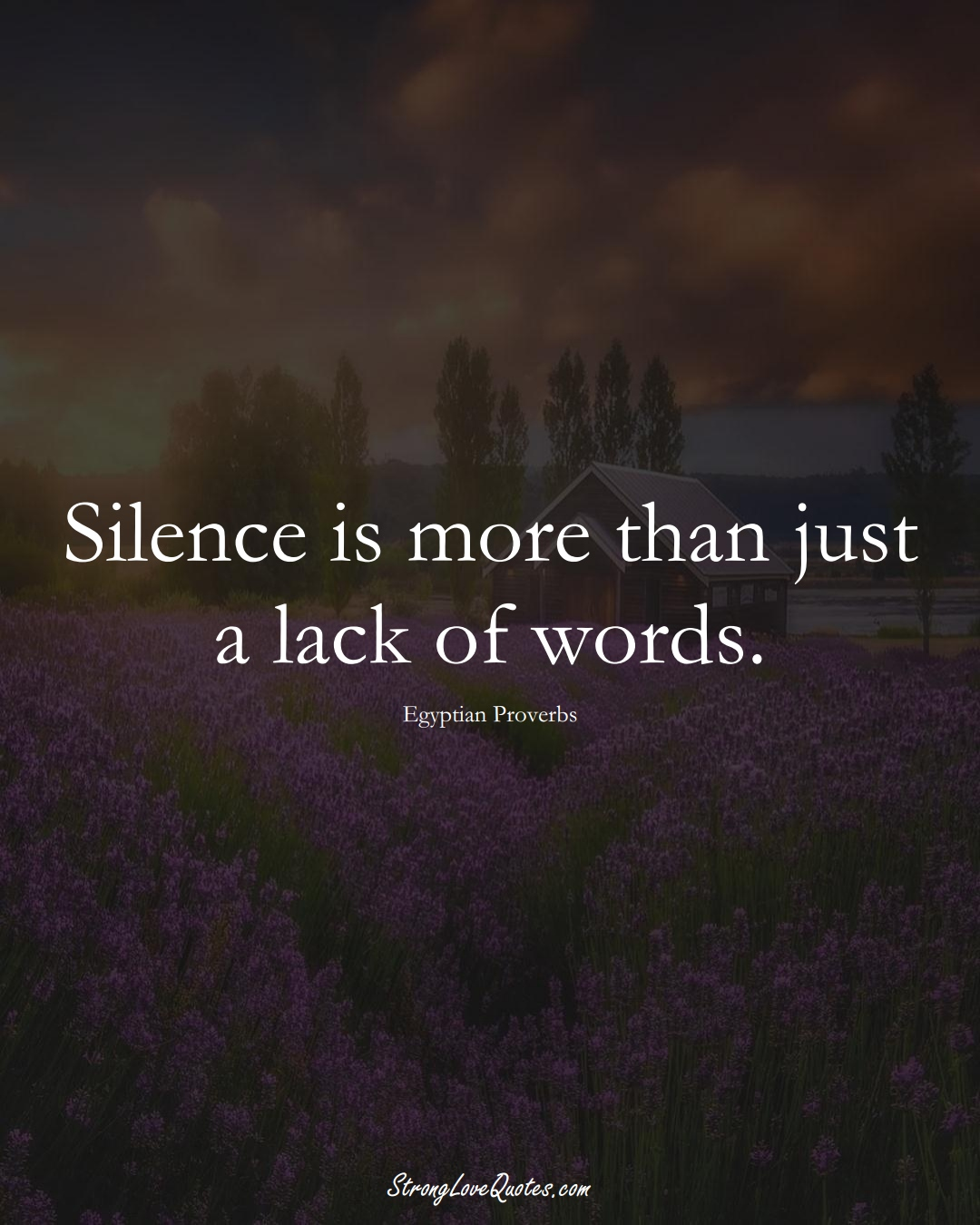 Silence is more than just a lack of words. (Egyptian Sayings);  #MiddleEasternSayings