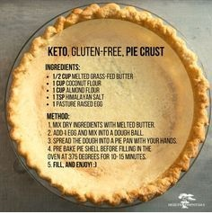 GLUTEN FREE RECIPES | Keto, Gluten-Free Pie Crust