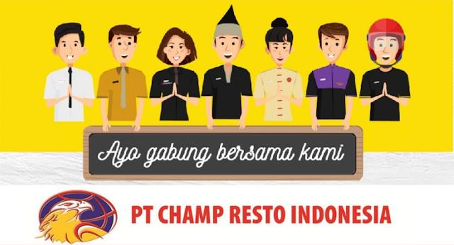 Walk In Iterview PT. Champ Resto Indonesia SMKN 1 Pandeglang 12 Maret 2020