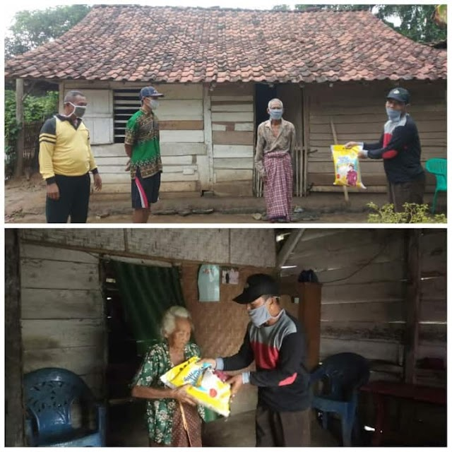 Polres Tubaba Berikan Bantuan Sosial di Tiyuh Pagar Buana Kecamatan Way Kenanga