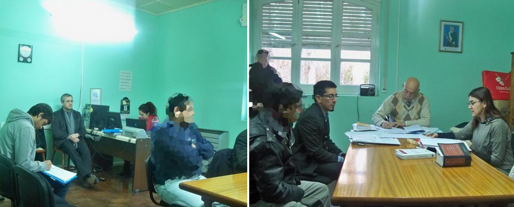 Oficina judicial sarmiento audiencias en el interior for Oficina judicial