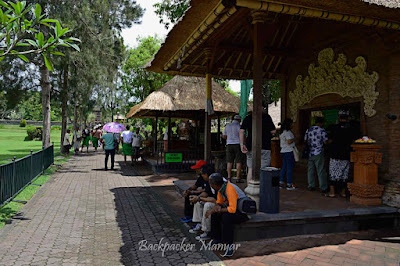 Loket tiket masuk Pura Taman Ayun