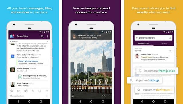 Slack - أفضل تطبيقات لإجراء مكالمات مجانية للاندرويد