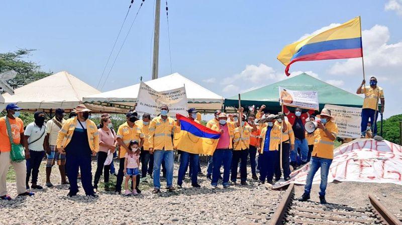 hoyennoticia.com, Autoridades desbloquearon línea férrea de Cerrejón