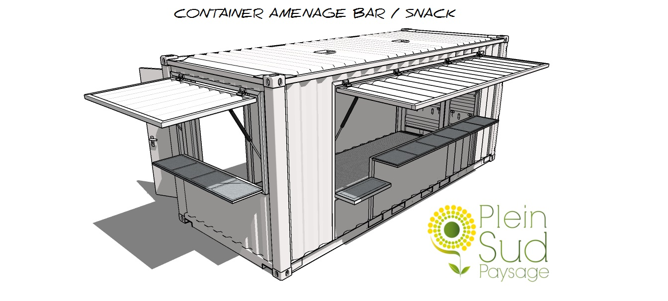 containers am nag s snack bar restaurant coffee shop evenementiel. Black Bedroom Furniture Sets. Home Design Ideas