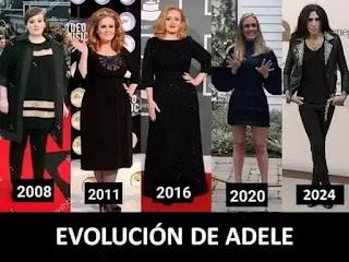 Evolución de Adele durante varios años y comparado con Mario Vaquerizo