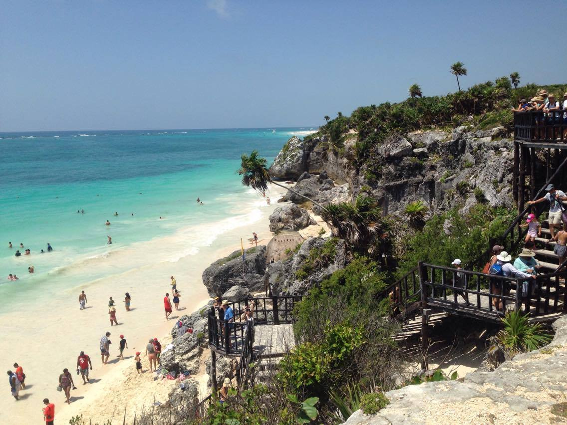 beach, holilday, sun, hot, weather, tulum, playa del carmen, mexico, travel, travelling