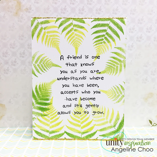 ScrappyScrappy: Nature Fern card with Unity Stamp #scrappyscrappy #unitystampco #card #cardmaking #papercraft #stamp #stamping #nature