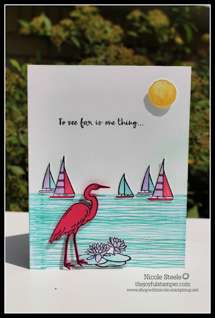 Splitcoaststampers Dare To Get Dirty challenge card by Nicole Steele The Joyful Stamper using Stampin' Up!'s Lilypad Lake set