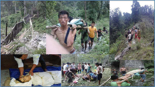 2 died at Mungpel pabringtar hanging bridge collapse kalimpong