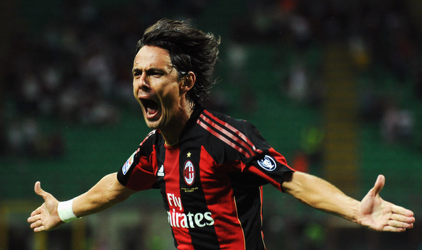 Best players in AC Milan History - Inzaghi