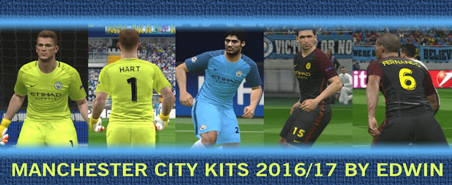PES 2016 Manchester City Kits Season 2016-2017