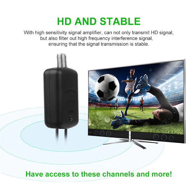 TV Signal Amplifier Booster Convenience And Easy Installtion Digital HD For Cable TV For Fox Antenna HD Channel 25DB