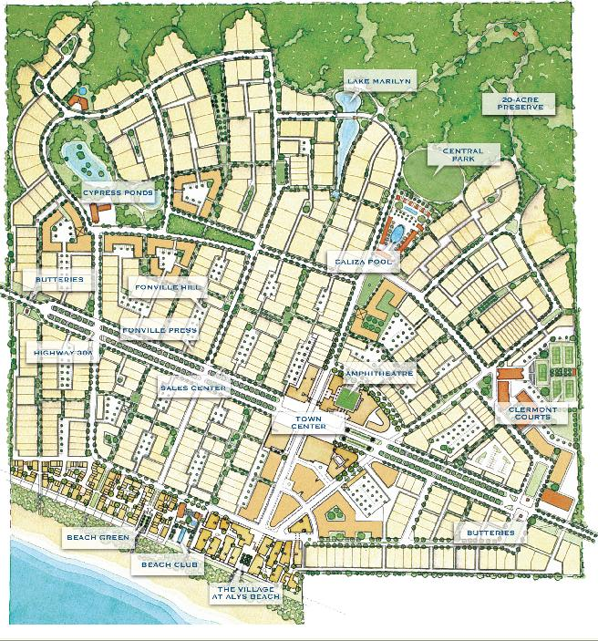 Rosemary Beach Map | The best beaches in the world