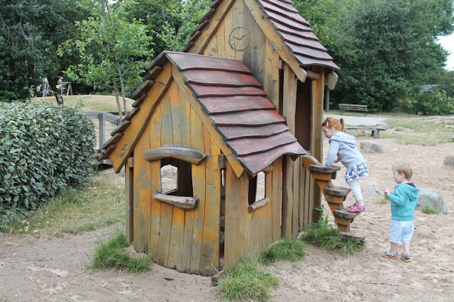A play house in one of the Victoria Park playgrounds in Mile End London