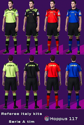 PES 2020 Referee Italy Kits Serie A TIM Season 2019/2020 by Hoppus 117