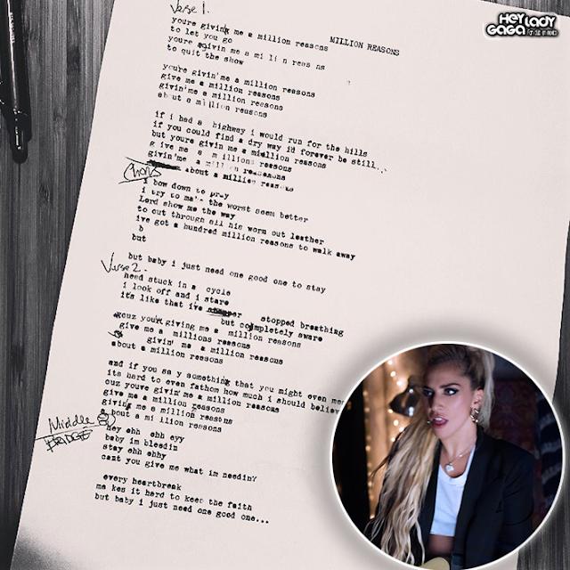 Lady Gaga publica letra de Million Reasons . Lee la traducción al español