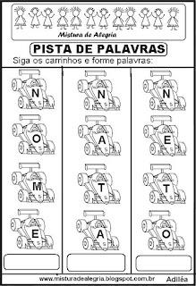 Formando palavras com a letra N