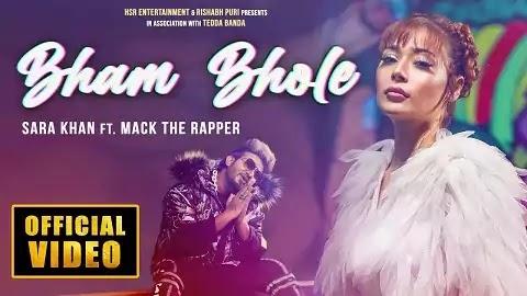 Bham Bhole Lyrics - Sara Khan, Mack The Rapper