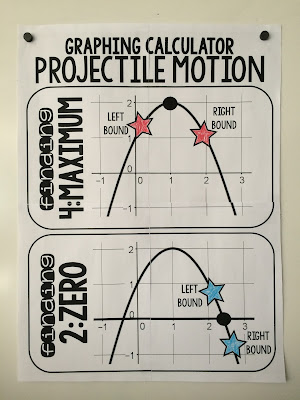 Projectile motion poster for quadratic word problems